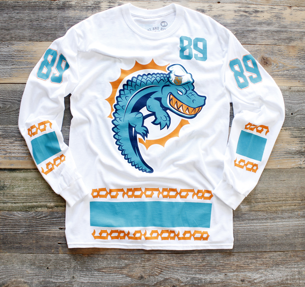Miami FL Mash-Up Jersey Tee L/S - 1