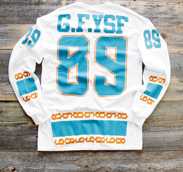 Miami FL Mash-Up Jersey Tee L/S - 2