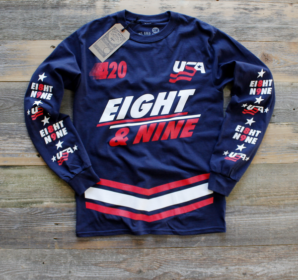 Team USA Jersey Tee Navy L/S - 1