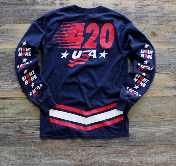 Team USA Jersey Tee Navy L/S - 2