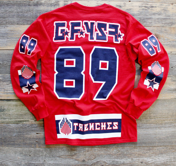 GFYSF Hockey Jersey Tee Red L/S - 2