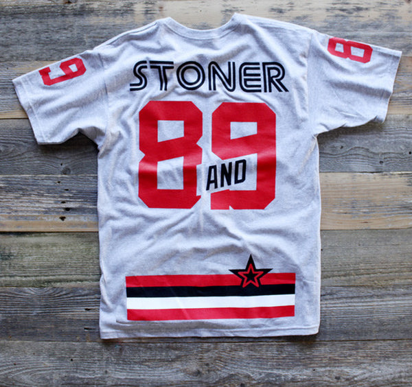 Stoner Hockey Jersey Tee Cement - 2