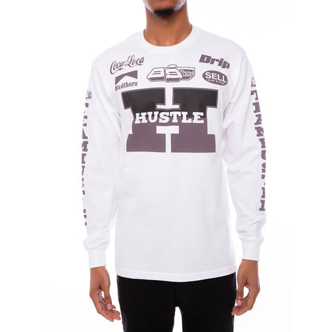 Team Hustle Long Sleeve Racing Tee Grey