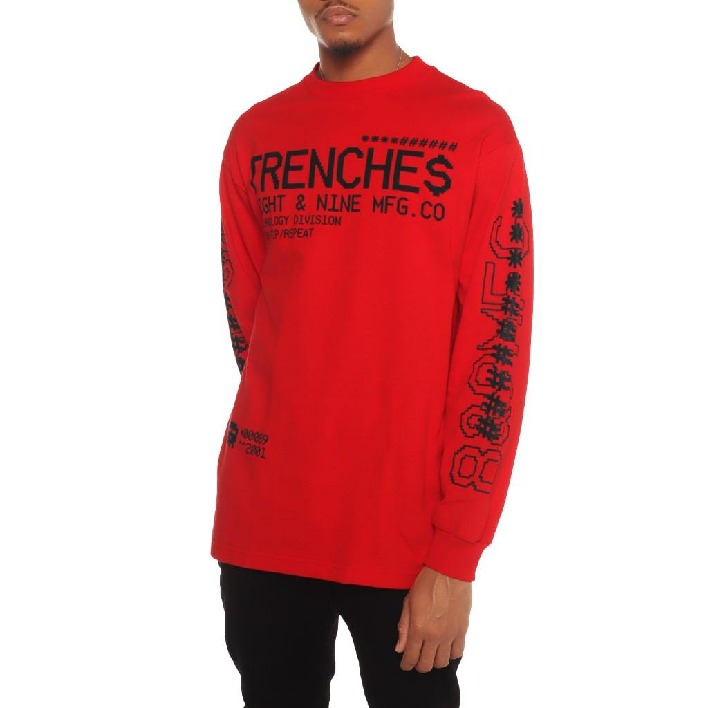 Tech Division Garment Dye Long Sleeve Tee Red