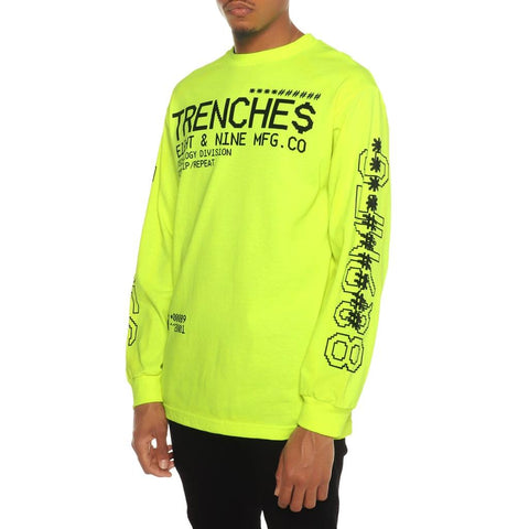 Tech Division Garment Dye Long Sleeve Tee Volt