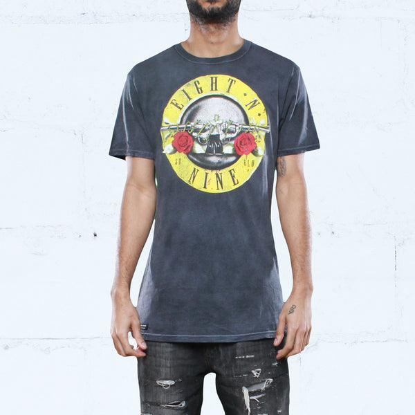 Guns N Trenches Spray Wash Tee Black