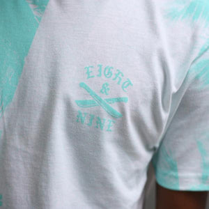 The River t shirt oxidized green crest