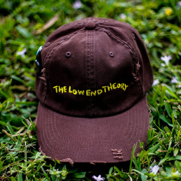 The Theory Distressed Vintage Hip Hop Hat Brown