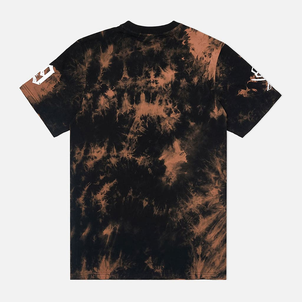 Trenches Raised T Shirt Tie Dye Black