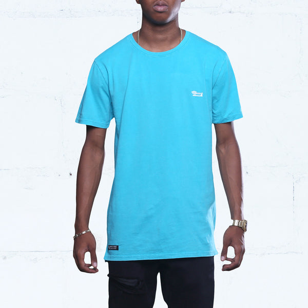 Triple Beam Long Line Washed Tee Ocean