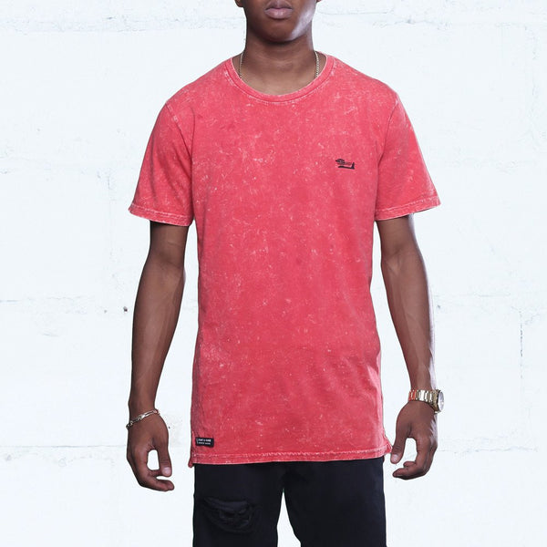 Triple Beam Elongated Washed Tee Infrared