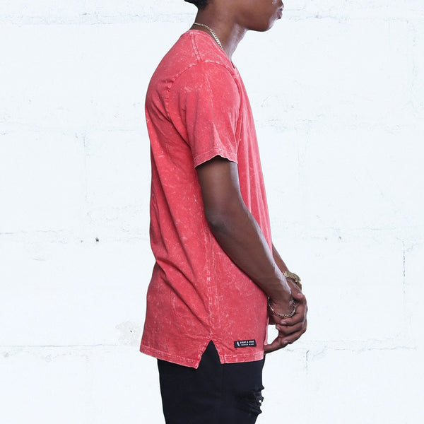 Triple Beam Long Line Washed Tee Infrared side