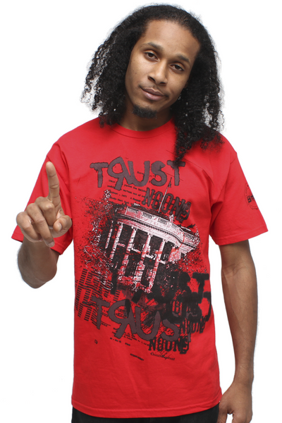 Trust No One Red T Shirt - 1