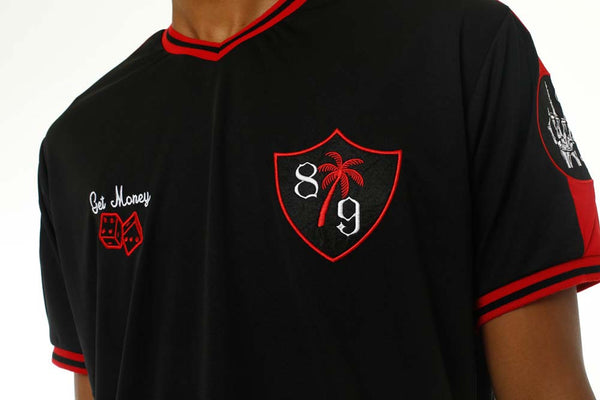 Tuesday Soccer Jersey Black front close