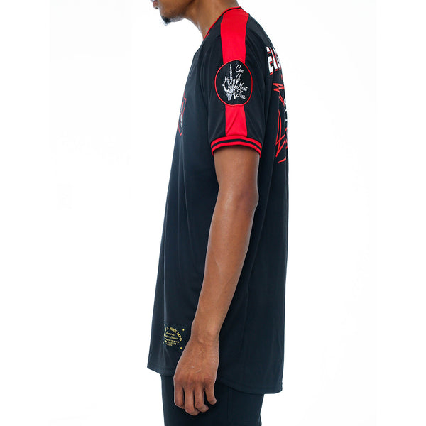 Tuesday Soccer Jersey Black left