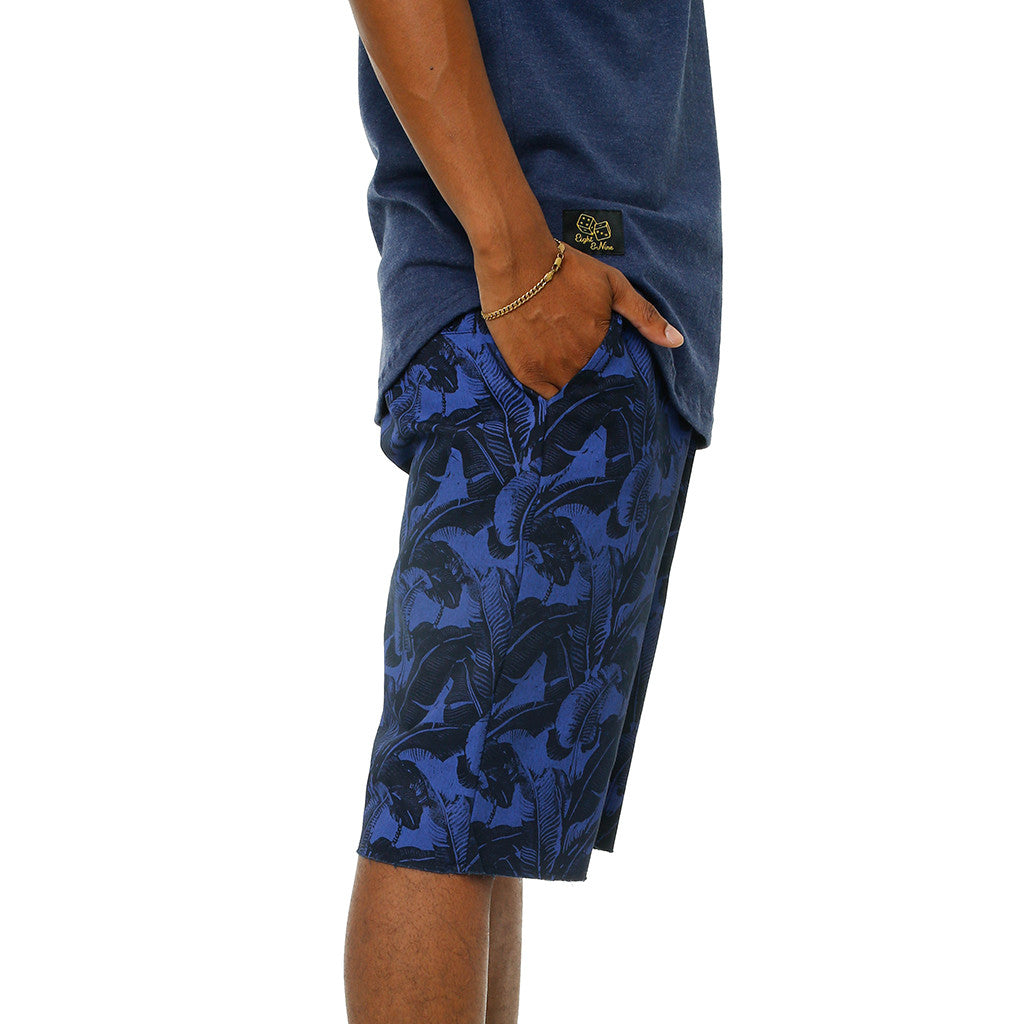 Vacation Twill Print Shorts Navy (2)