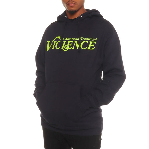 Violence Pullover Hoodie Navy