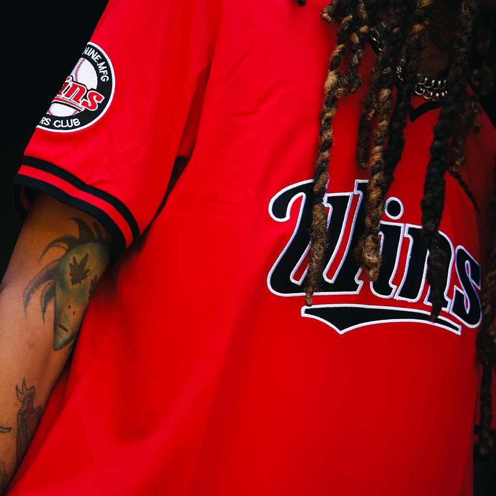 Wins Batting Jersey Red