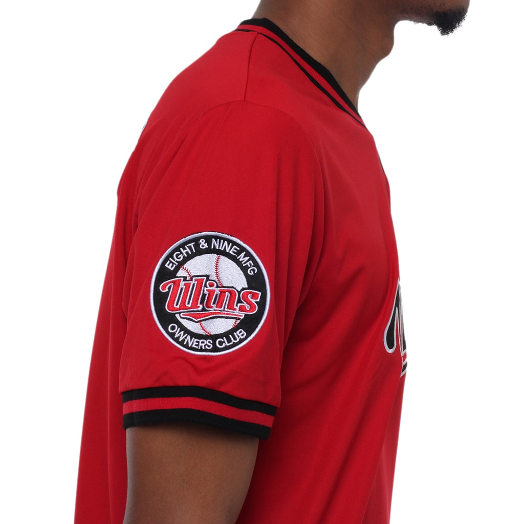 Wins Batting Jersey Red details