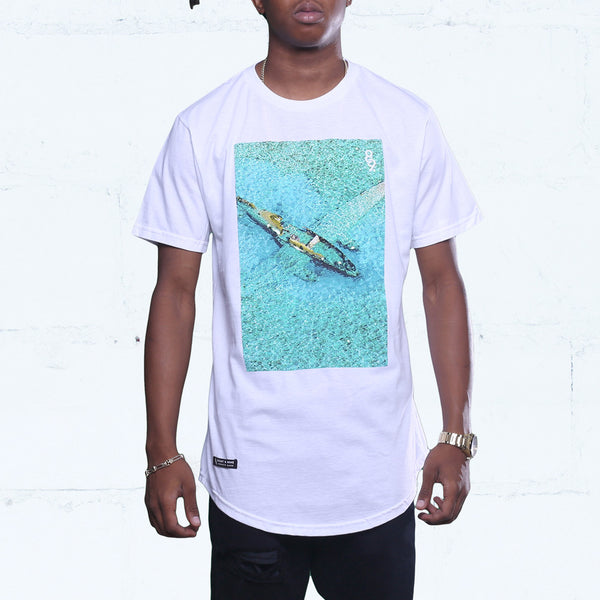 Wreckage Curved Hem Tee White