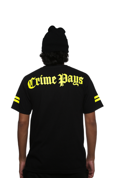 Crime Pays Jersey Tee Yellow - 4