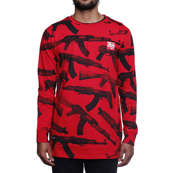 AKs Long Sleeve Tee Red L/S