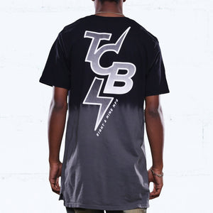 all city dip dye long line t shirt black back jordan chrome 8