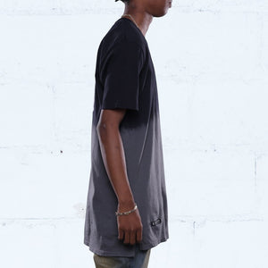 all city dip dye long line t shirt black side jordan chrome 8