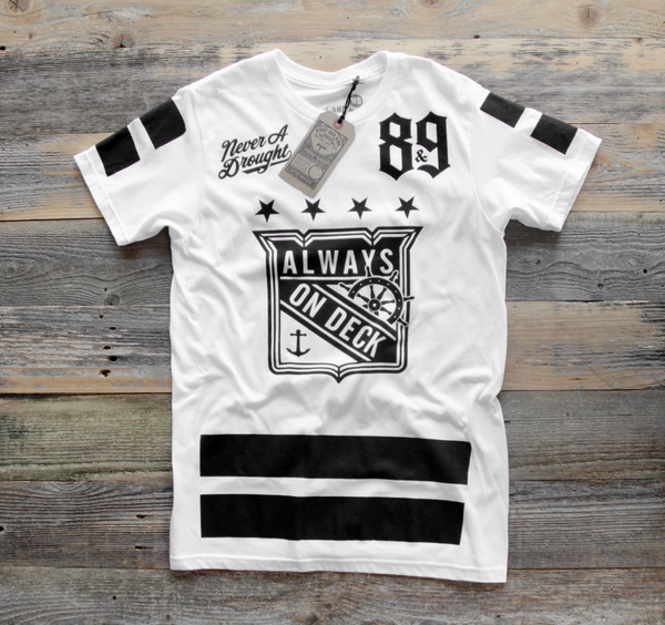 On Deck Hockey Jersey Tee White - 1