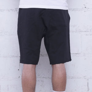 Triple Beam Premium Terry Shorts Black
