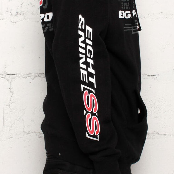 black stop snitchin  hooded sweathirt sleeve