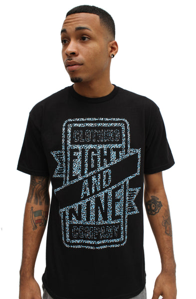 Gamma Blue Metallic Sign Shop T Shirt - 1
