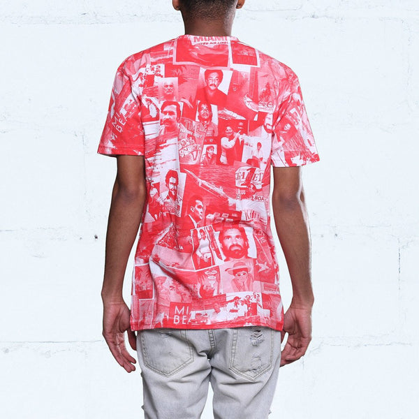 cartel all over print t shirt red black