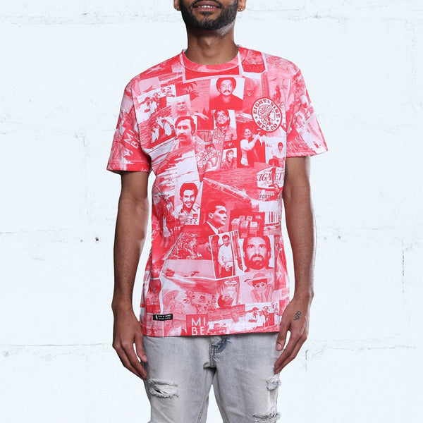 cartel all over print t shirt red front