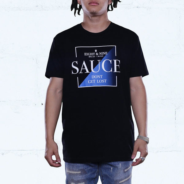 cerulean blue lost in the sauce shirt front