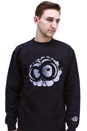 Dark Heather Brain Crewneck Sweatshirt - 1