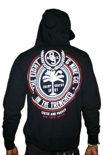 Trenches Bred Hooded Zip Up Sweatshirt