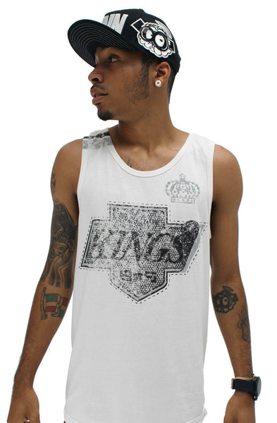 Fly Kings White Vintage Tank Top - 1