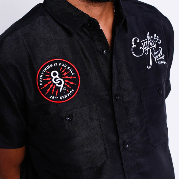For Sale Button Up Work Shirt Black