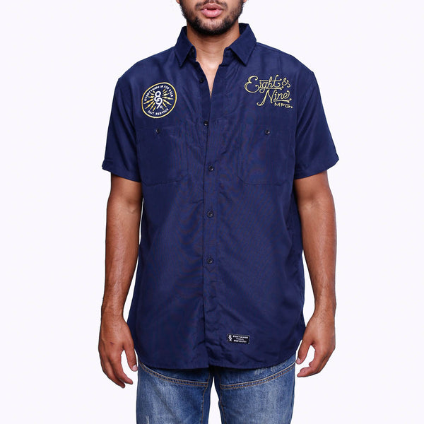 For Sale Button Up Work Shirt Navy