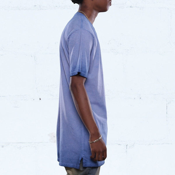 french blue antique wash long line tee jordan match side