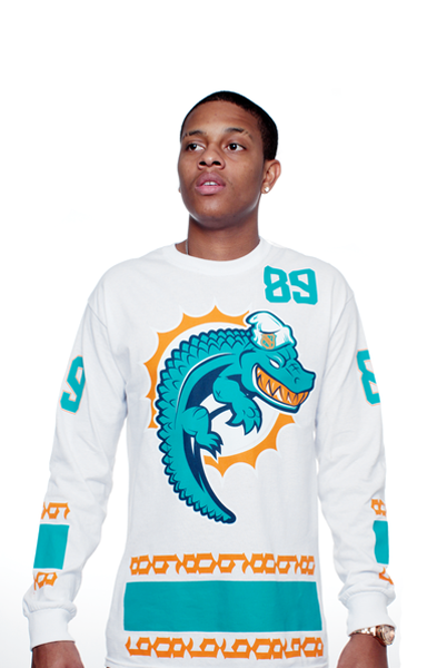 Miami FL Mash-Up Jersey Tee L/S - 3