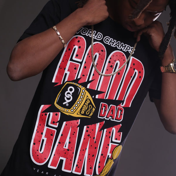 good dad gang jordan flu game 12 shirt close up