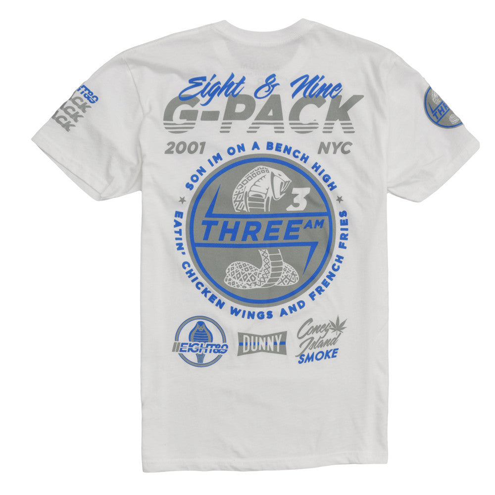 G Pack SS Jersey Tee White - 2