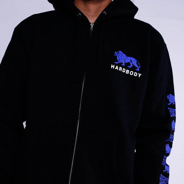 hardbody zip up hoodie black (4)