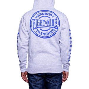 hardbody zip up hoodie true blue
