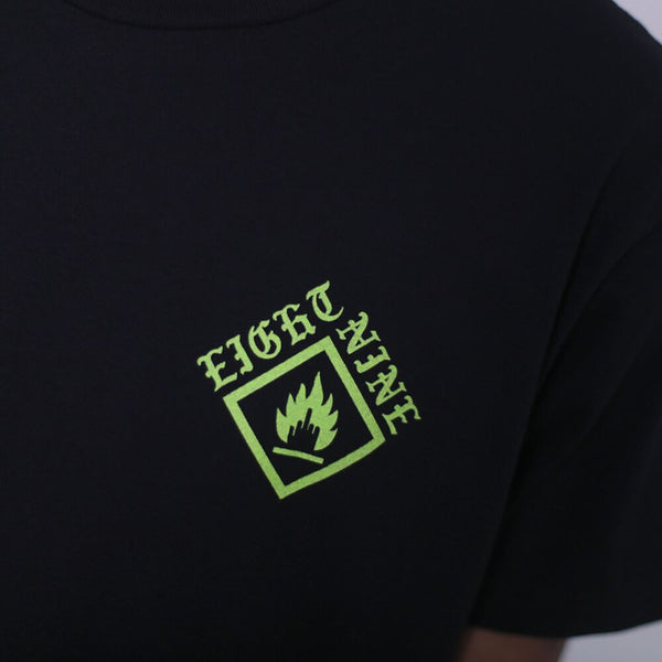indiglo jordan 14 shirt close up crest jordan