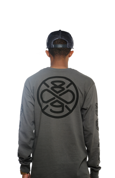 Charcoal Infinicon L/S Tee - 4