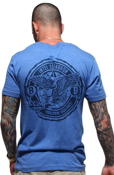 Intel Squad Vintage Blue V Neck Tee - 1