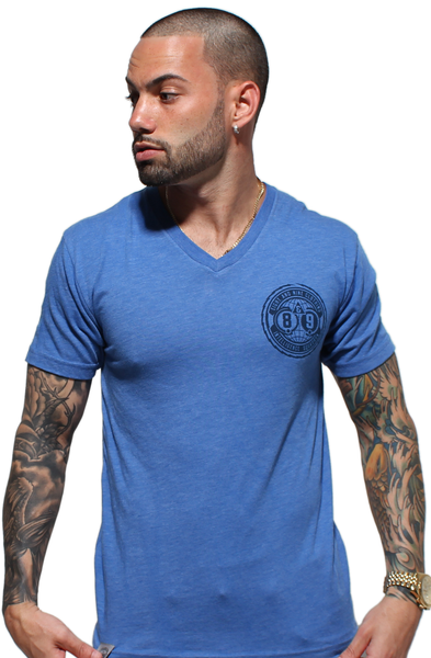 Intel Squad Vintage Blue V Neck Tee - 2
